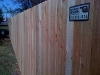 6 foot 1x4x6 cedar dog eared privacy