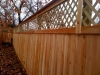 8 foot lattice top fence with cap rail pic 1