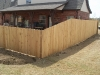 1x4x6 Cedar Dog Eared Privacy with 6 foot to 4 foot transition