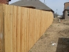 1x4x6 cedar dog eared privacy with wood posts