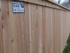 6 foot 1x4x6 cedar cap rail fence pic 1