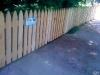 3 foot 1x4x4 cedar picket fence gothic top pic 1