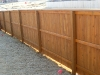 6' Cedar Cap Rail Privacy with stain