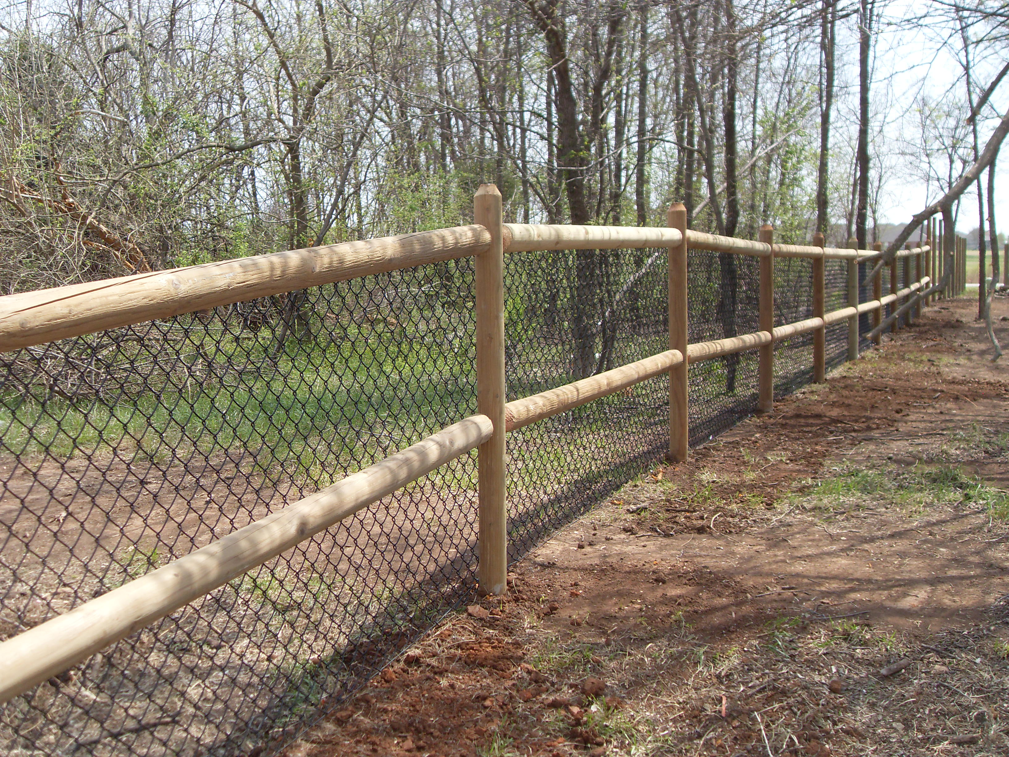 Chain link fence rails best
