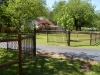 4' 2 Rail with Ornamental Iron Drive Gates